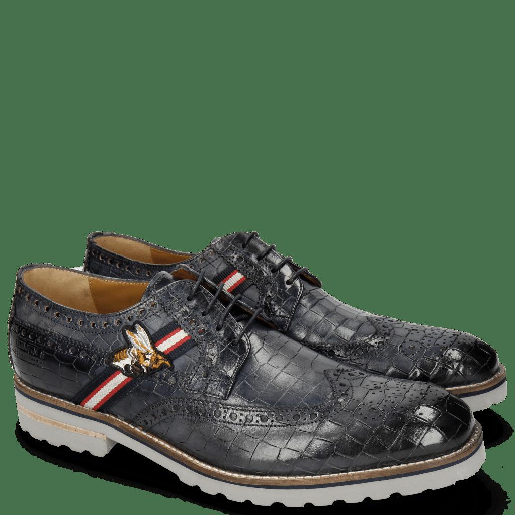 Derby shoes Eddy 25 Crock Navy Strap