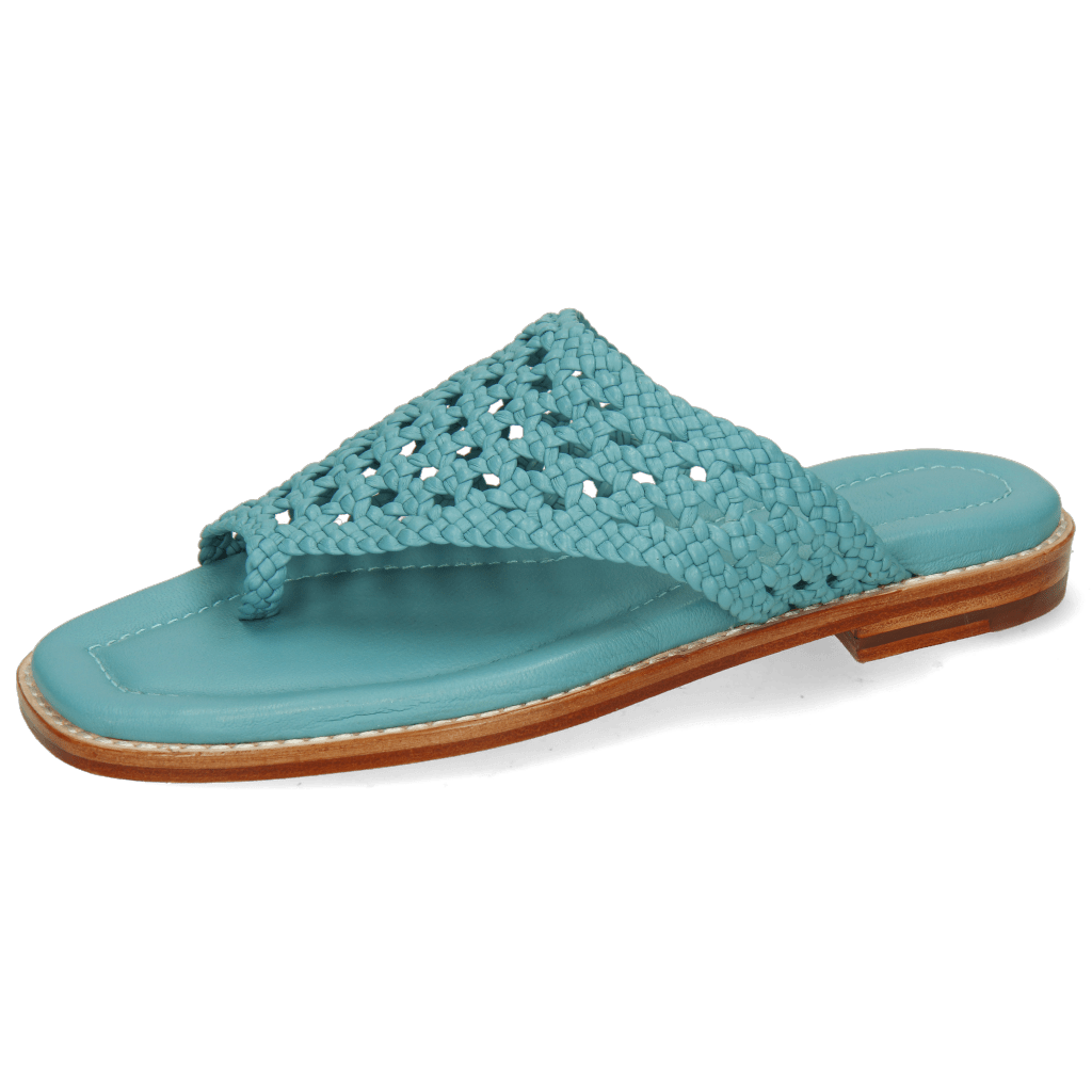Mules Elodie 16 Mignon Open Woven Turquoise