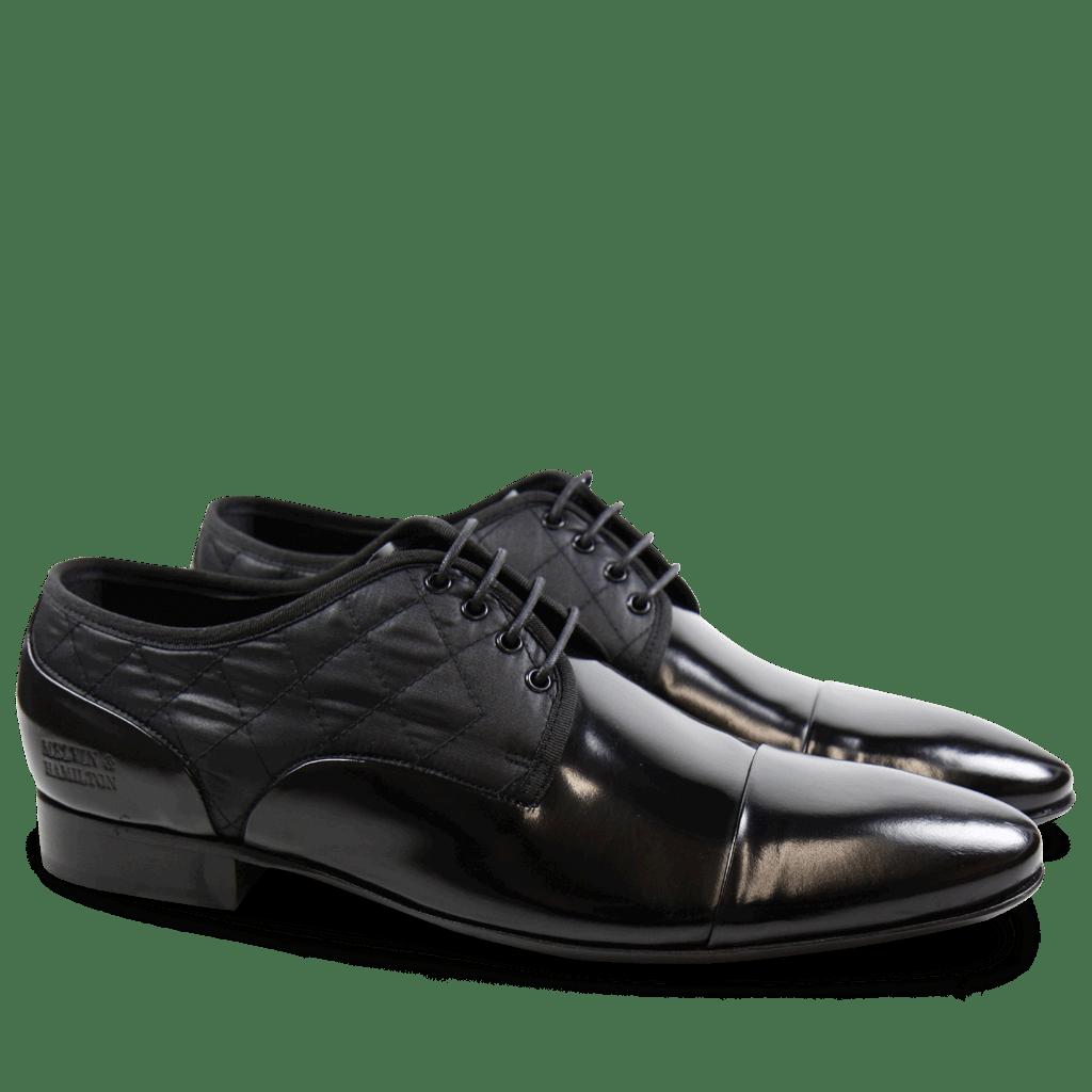 Derby shoes Flemming 1 Brush Black Funky Black LS