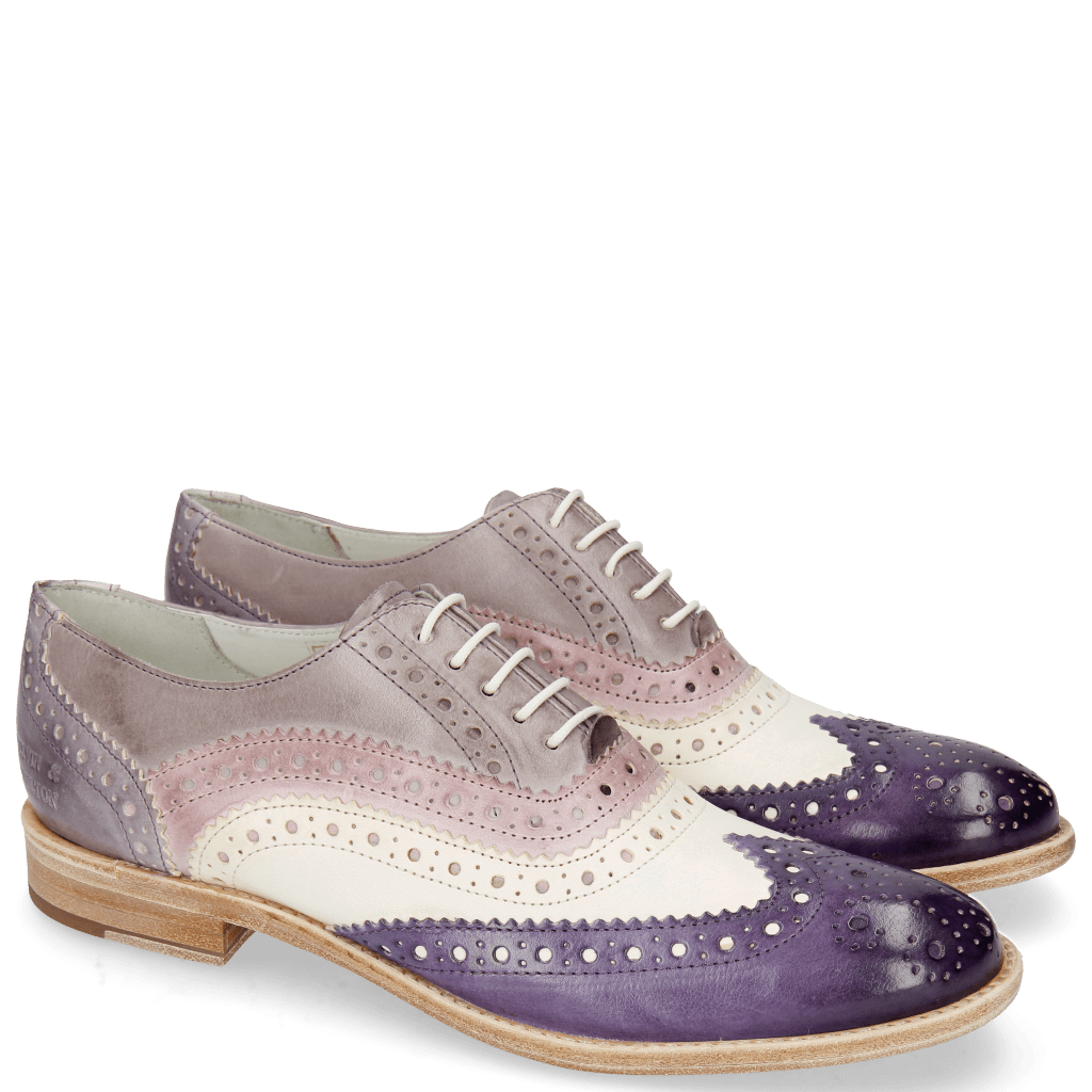 Oxford shoes Amelie 10 Vegas Violet White Light Purple Pale Lila