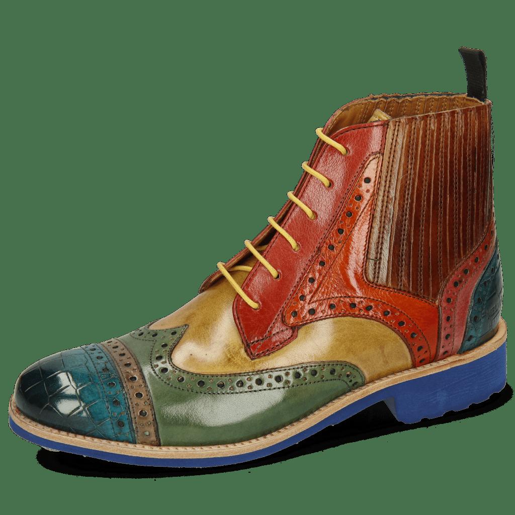 Ankle boots Amelie 17 Crock Ice Blue Grey Sweet Green Cedro Rubino Orange Wood Bubblegum
