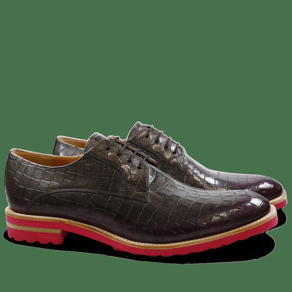 Derby shoes Eddy 8 Crock Smoke Shade Dark Pink Aspen Fuxia
