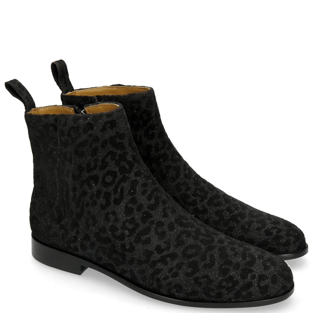 Ankle boots Susan 43 Leo Glitter Black