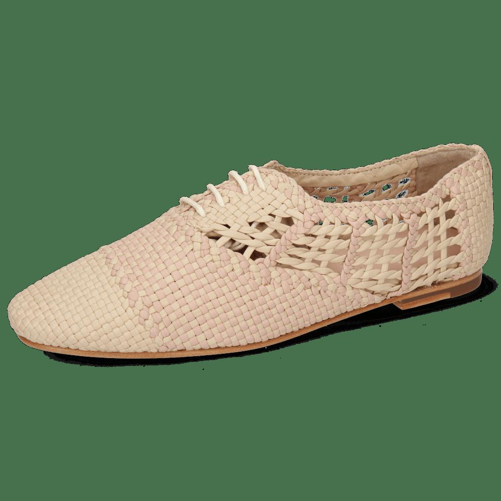 Oxford shoes Aviana 3 Woven Off White Lavanda