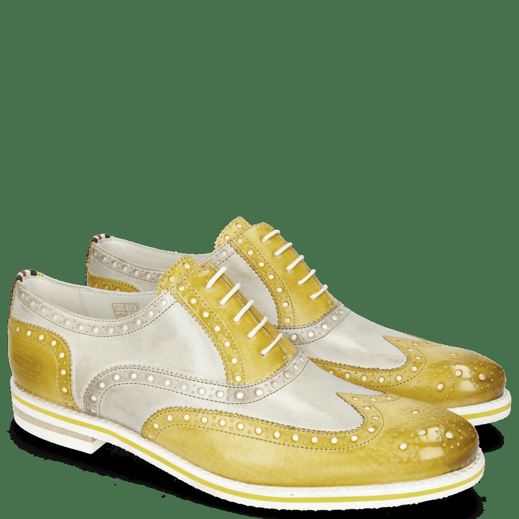 Oxford shoes Scott 12 Vegas Olivine Digital Underlay White