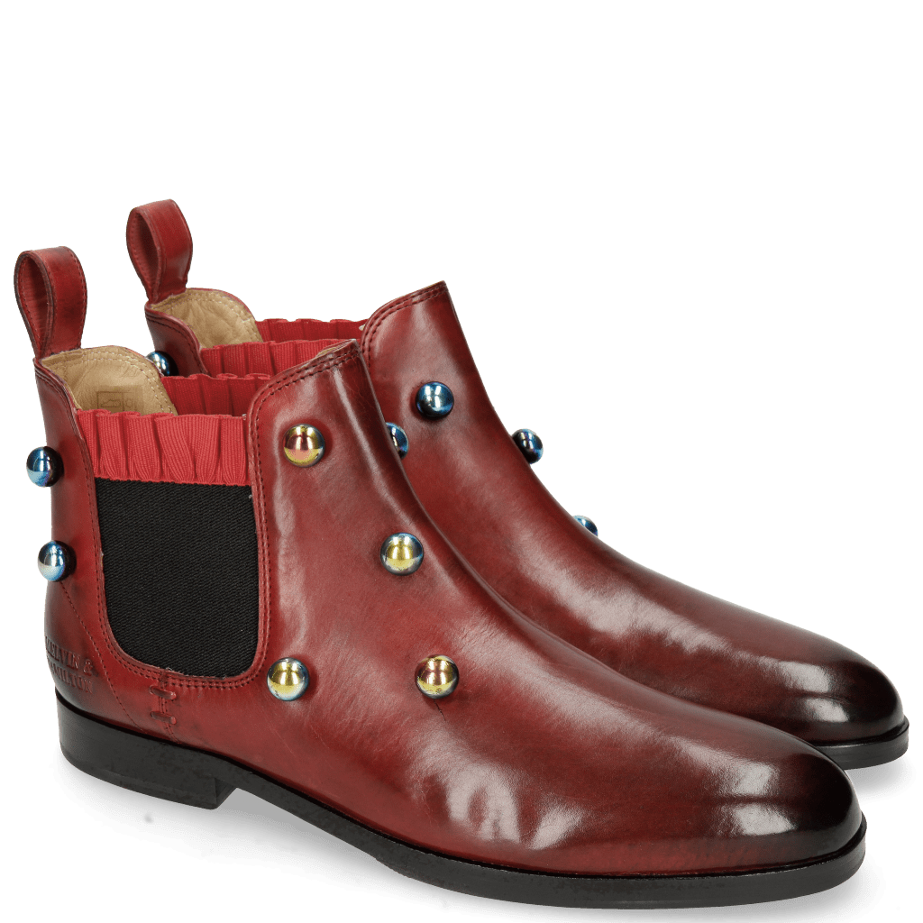 Ankle boots Susan 10 Ruby Resin Bubbles