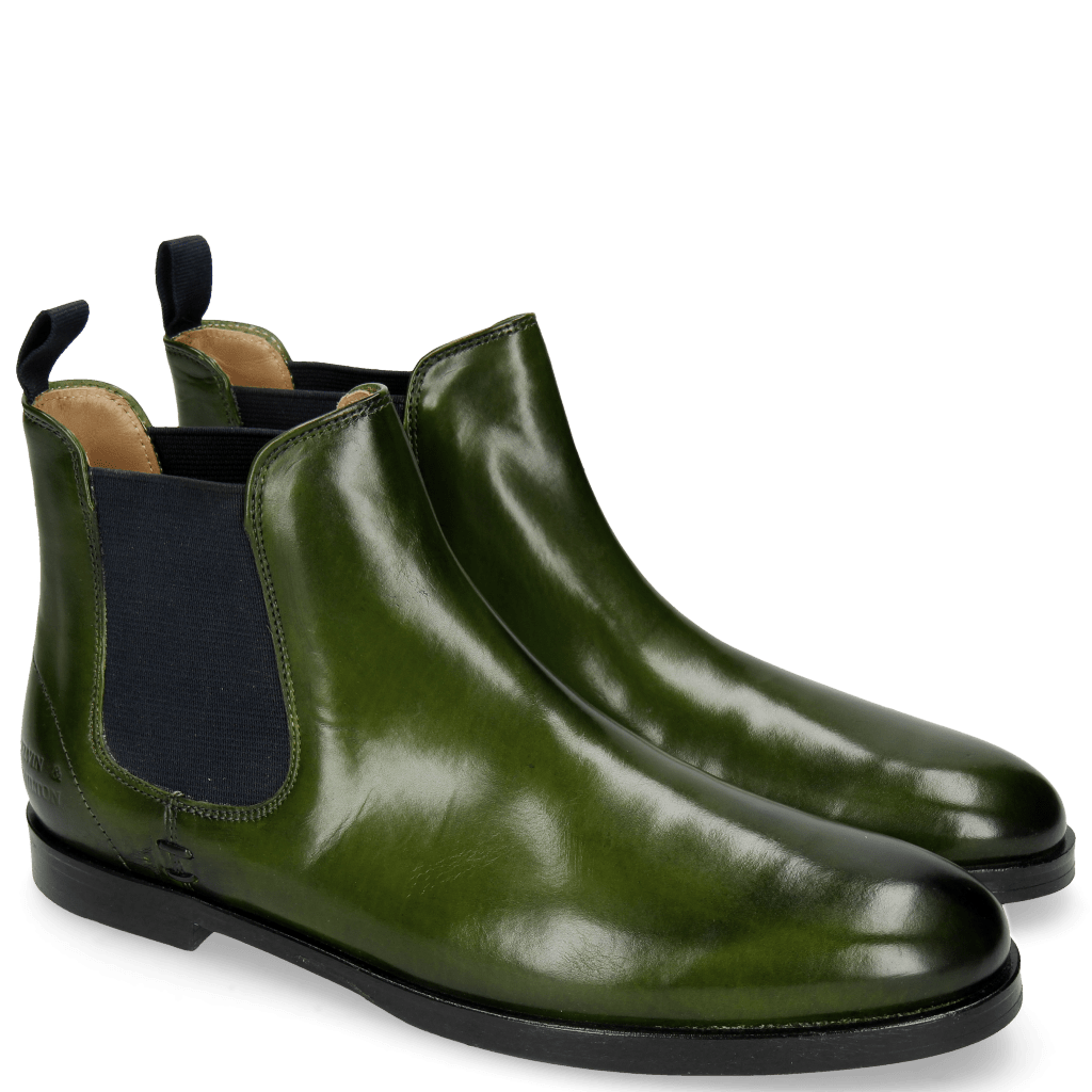 Ankle boots Susan 10 Ultra Green Elastic Navy