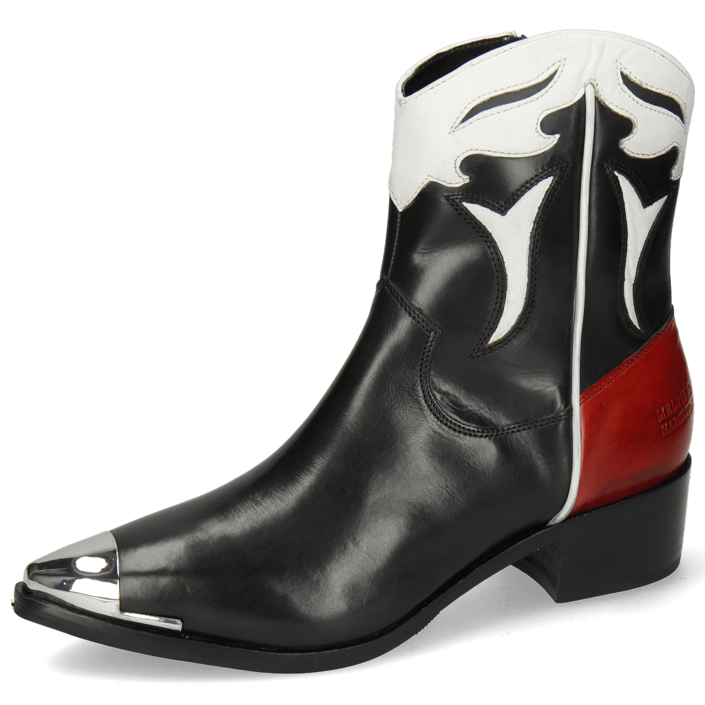 Ankle boots May 6 Black Nappa White Ruby