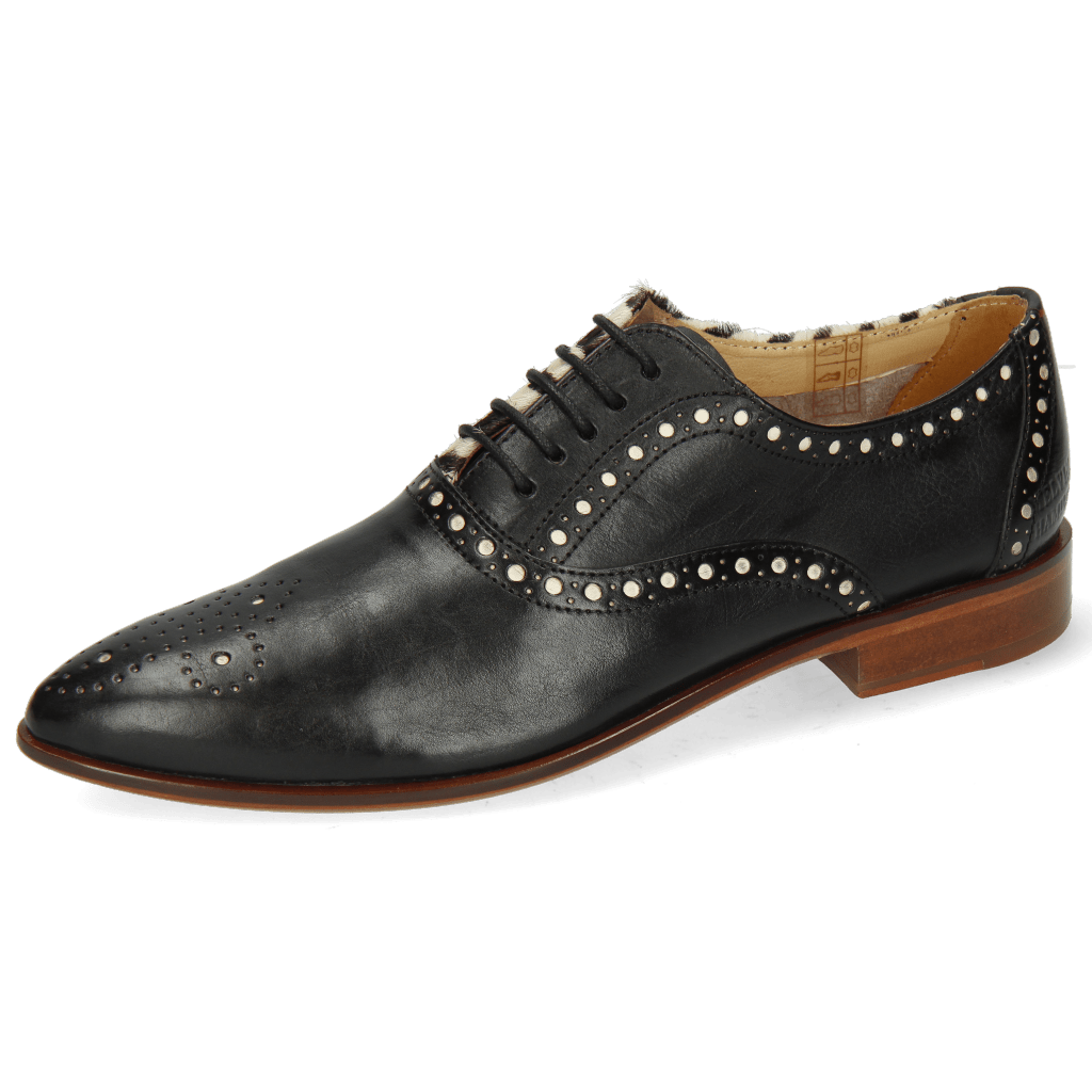 Oxford shoes Jessy 61 Nappa Black Hairon Zebra Flex
