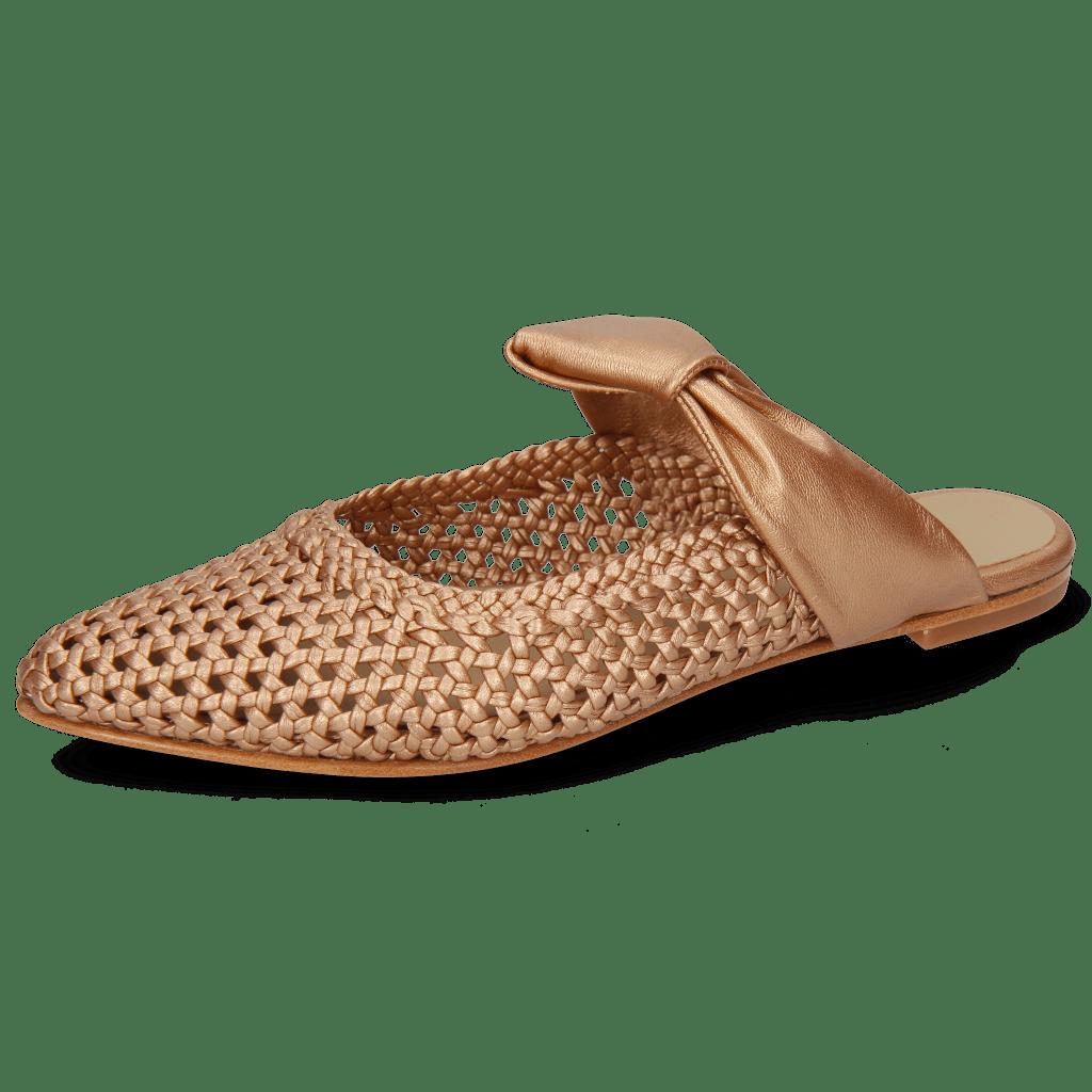 Mules Alexa 15 Woven Nappa Rame