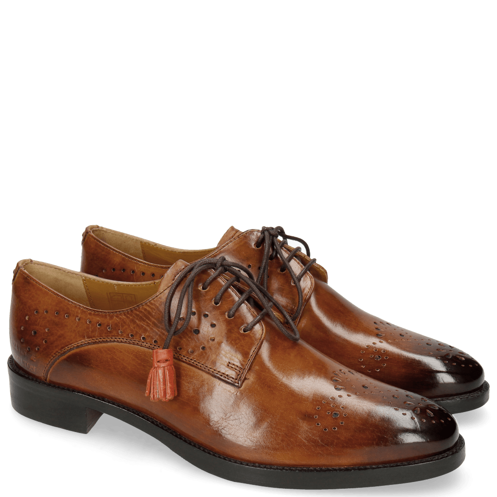 Derby shoes Betty 2 Tan Tassel Winter Orange
