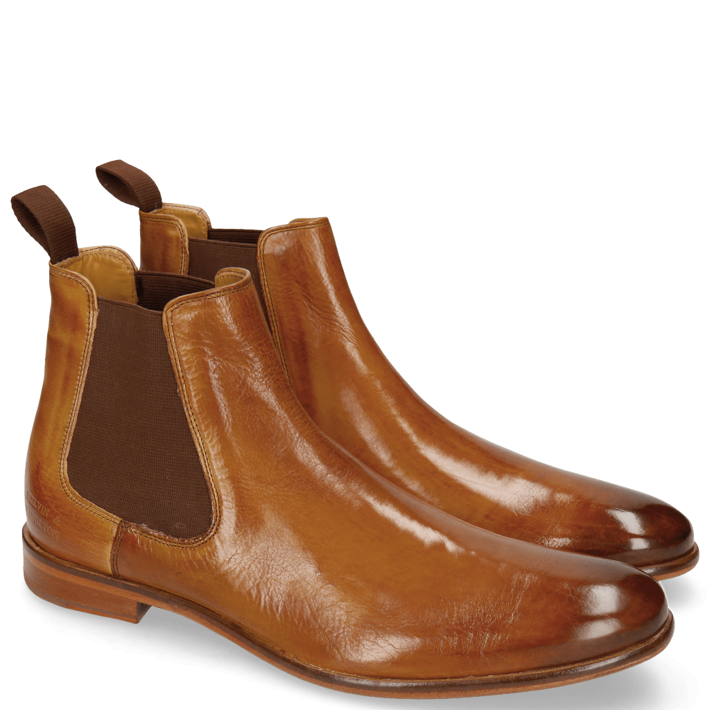 Ankle boots Clint 7 Tan Elastic Brown