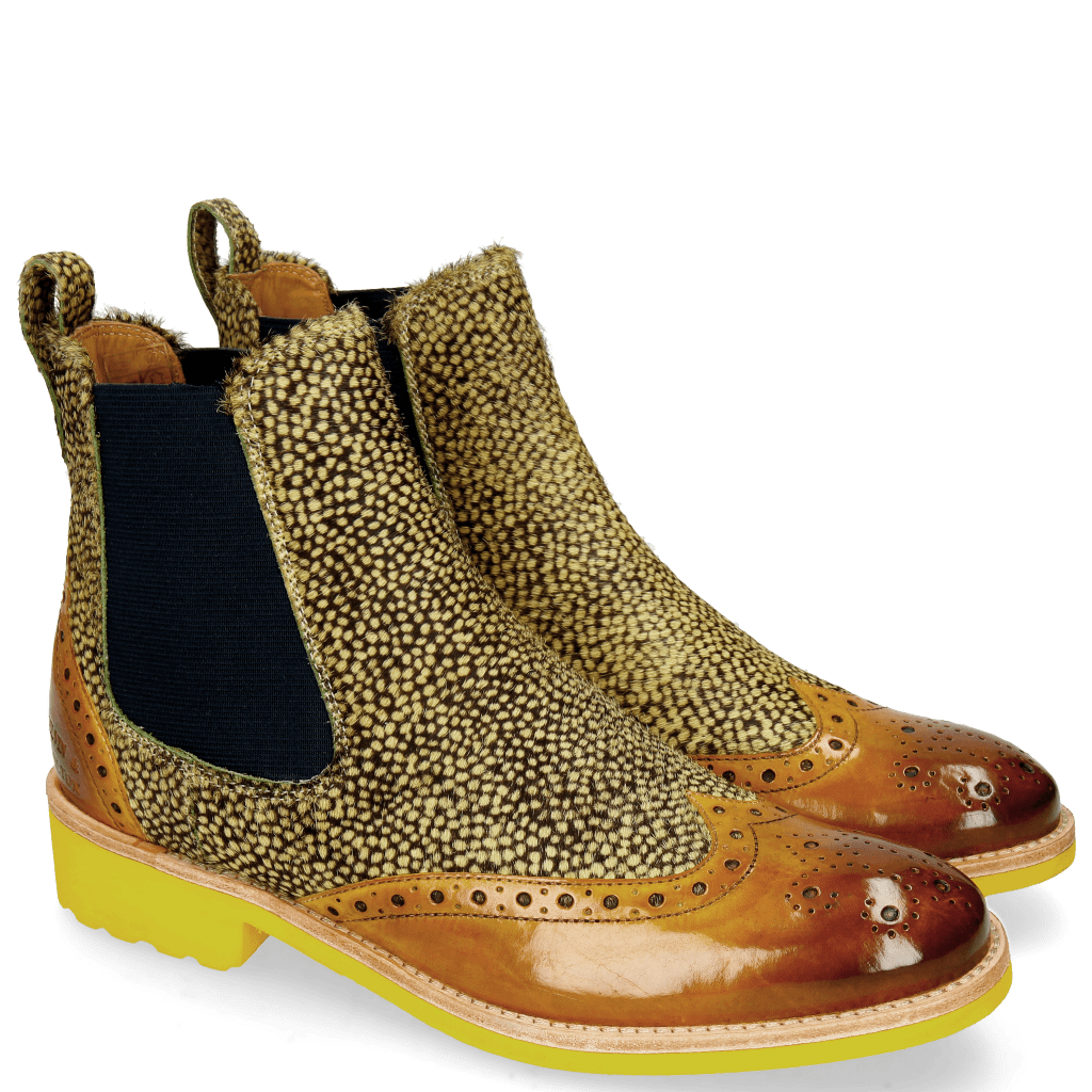 Ankle boots Amelie 5 Hairon Yellow Dark Finishing Halftone