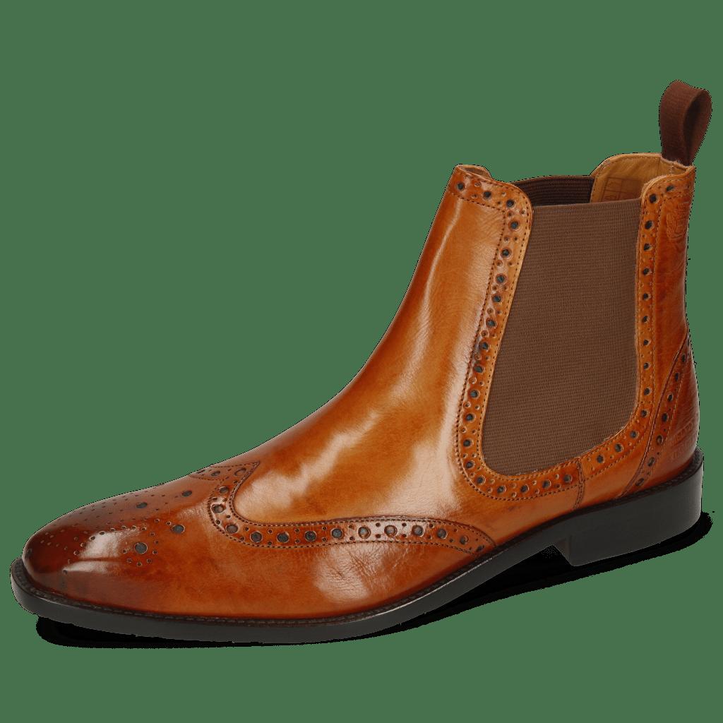 Ankle boots Xabi 2 Berlin Tan Elastic Brown Rubber Navy