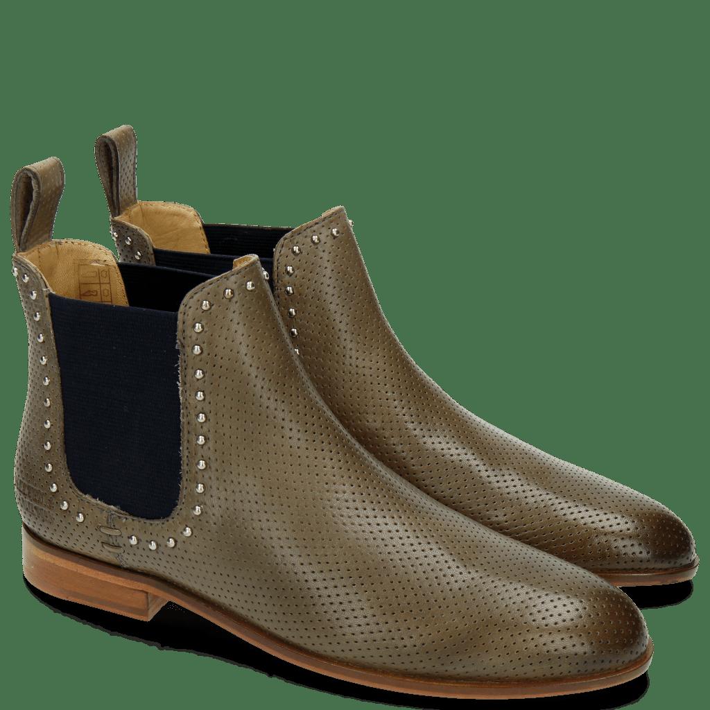 Ankle boots Susan 37 Perfo M&H Ash Rivets