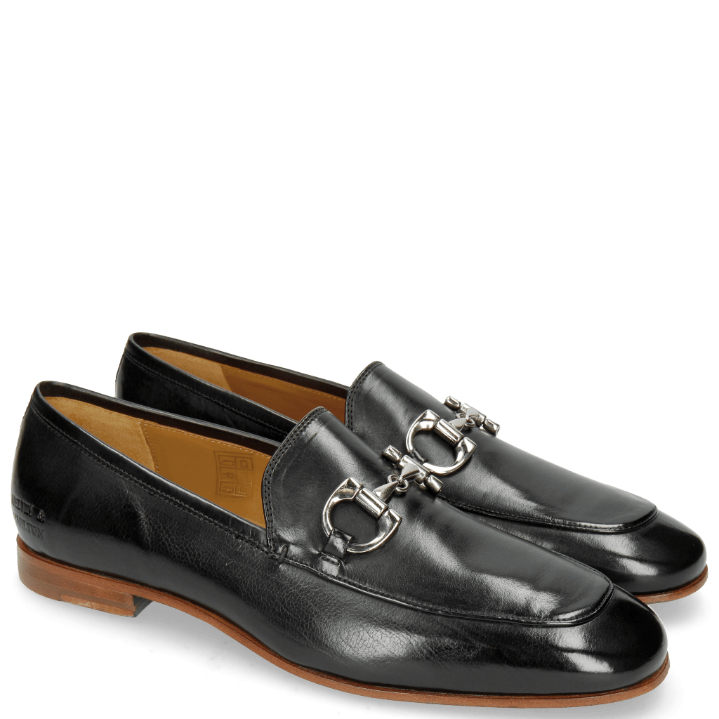 Loafers Clive 1 Black Lining Rich Tan LS Natural