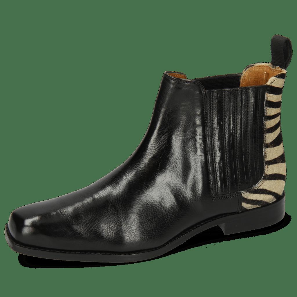 Ankle boots Bella 1 Palermo Black Hairon Zebra