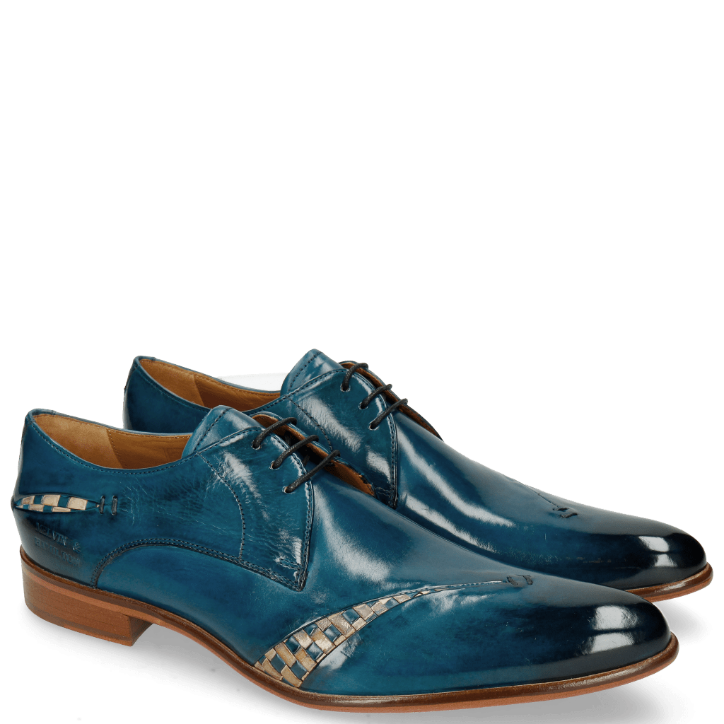 Derby shoes Toni 40 Mid Blue Woven Nude