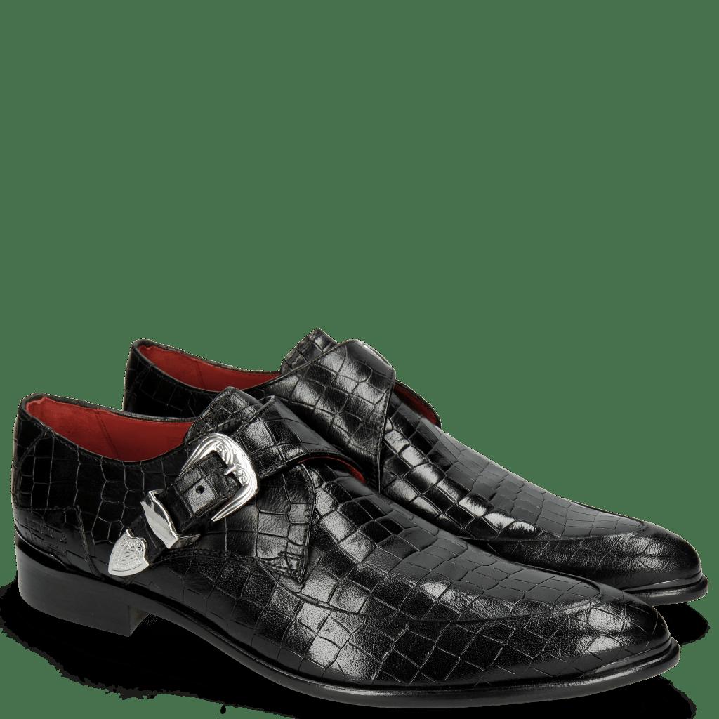 Monks Toni 24 Crock Black Toe Gunmetal