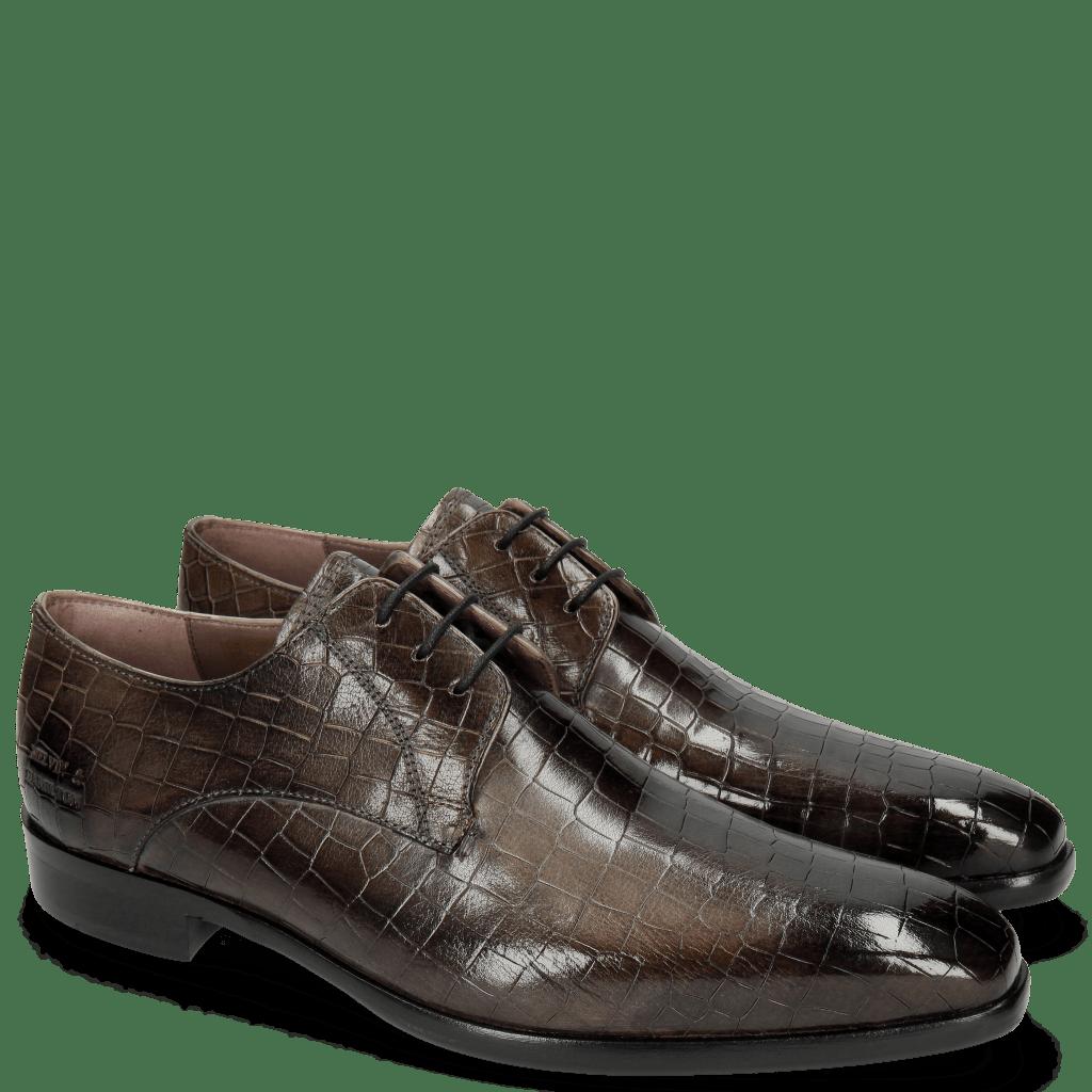 Derby shoes Lance 8 Crock Grigio Lining Purple