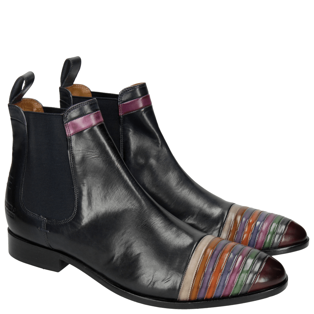 Ankle boots Riley 4 Navy Multi Elastic Navy
