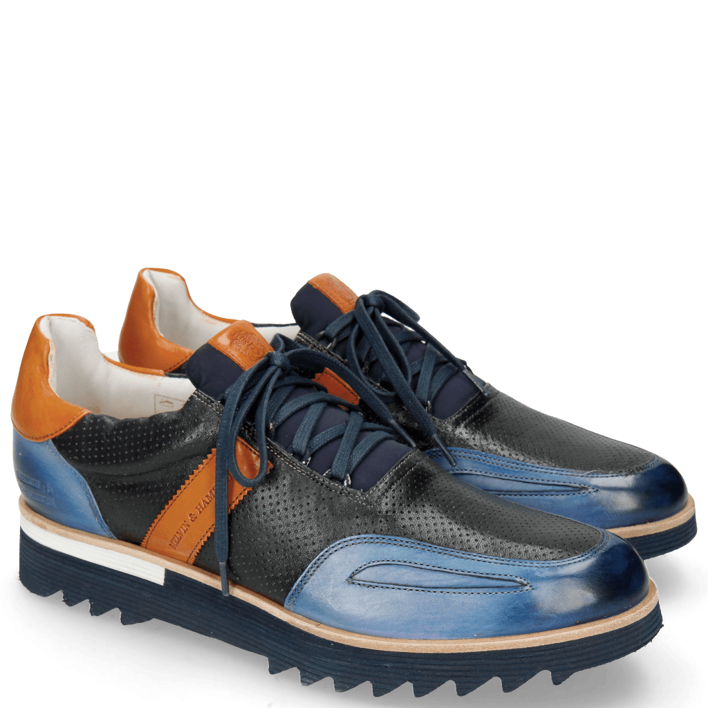 Sneakers Hank 2 Vegas Electric Blue Perfo Navy Orange