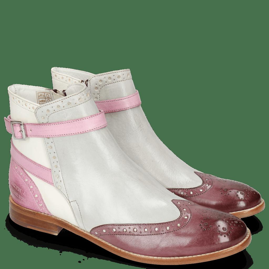 Ankle boots Amelie 11 Vegas Purple Tentacle Oxygen White Strap