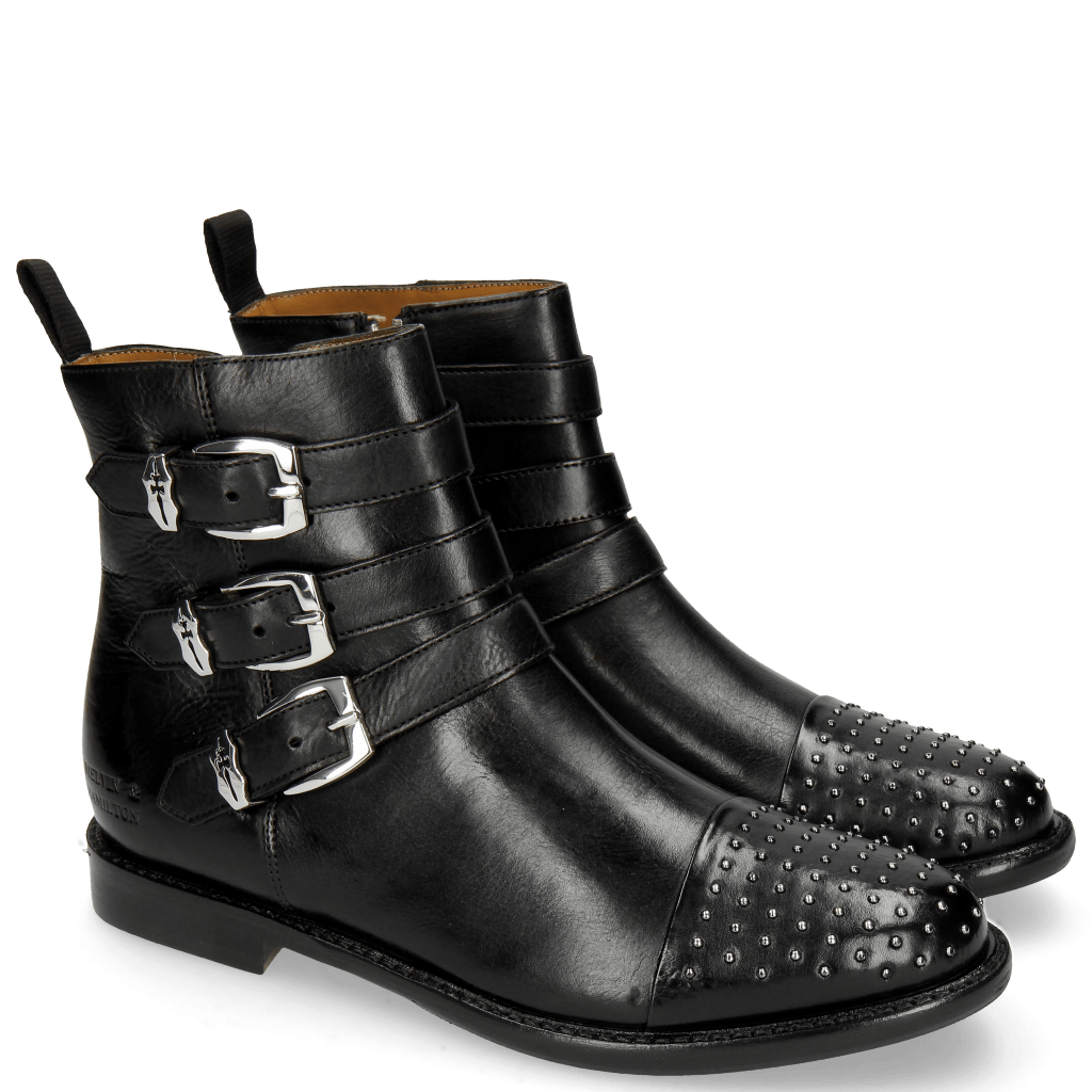 Ankle boots Selina 20 Indus Black Rivets Nickel