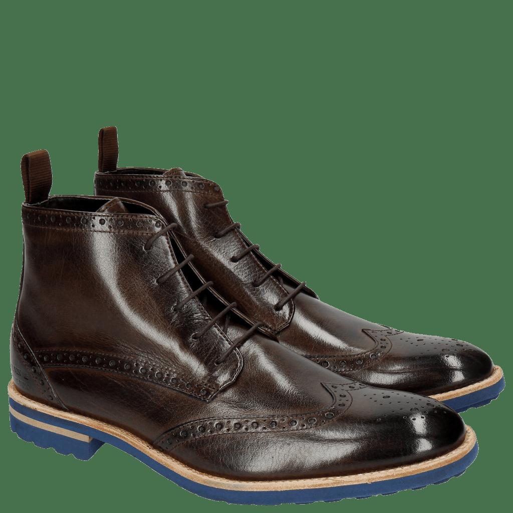 Ankle boots Eddy 10 Dark Brown Crip Blue