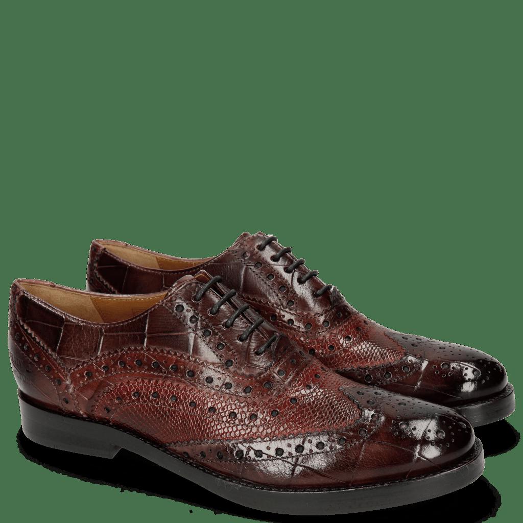 Oxford shoes Amelie 10 Turtle Wine Phyton Bordo Plum