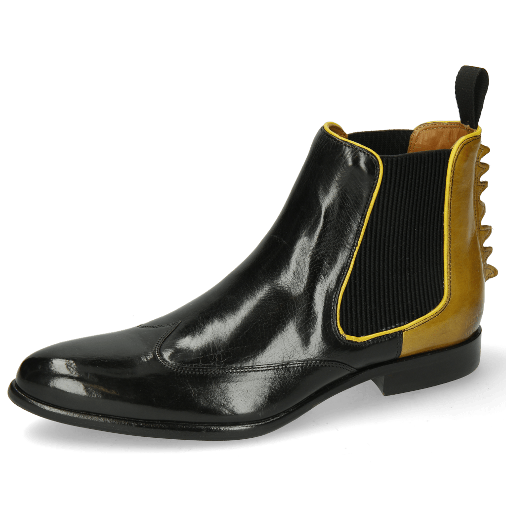 Ankle boots Keira 7 Black Sol Binding Fluo Yellow