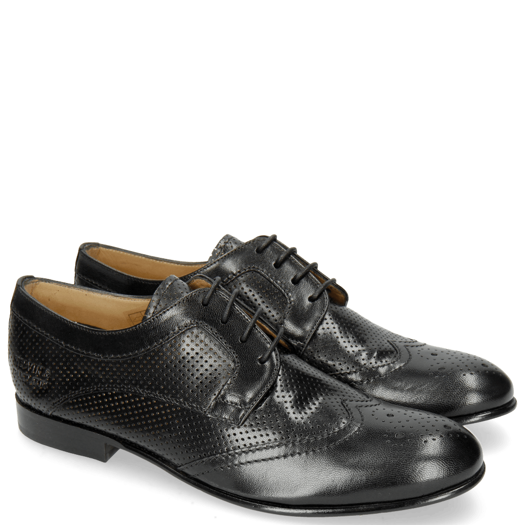Derby shoes Sally 36 Salerno Perfo Black