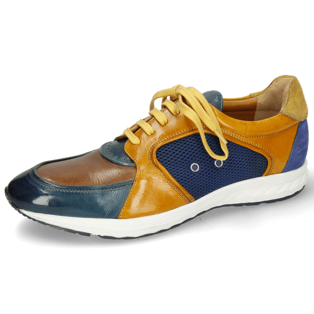 Sneakers Blair 18 Pisa Ice Tortora Indy Yellow Suede Navy