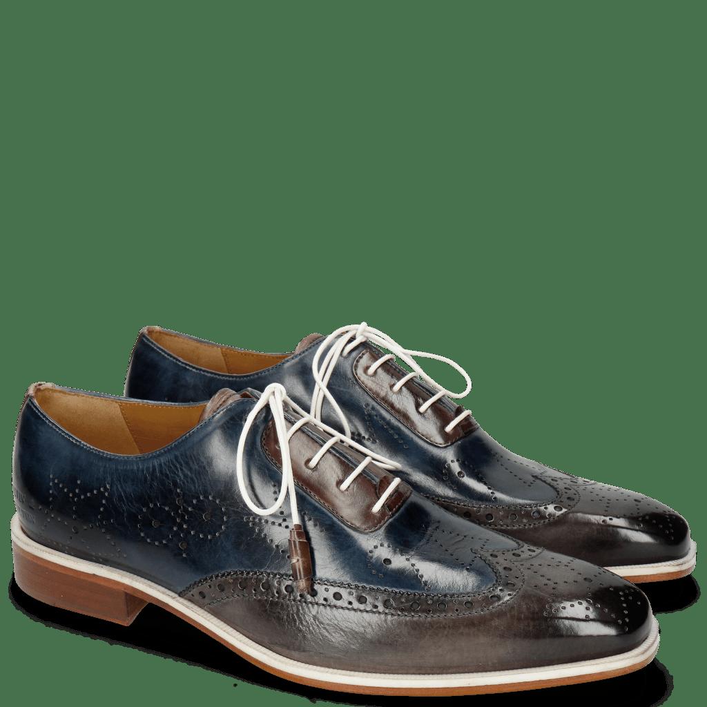 Oxford shoes Jeff 27 Grigio Helio Wine