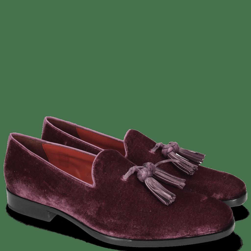 Loafers Prince 8 Velluto Dark Purple Tassel