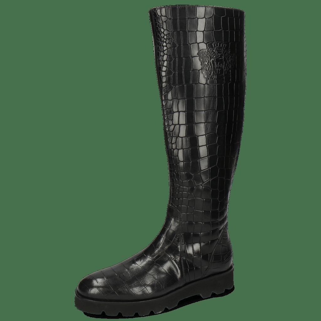 Boots Susan 7A Rio Reptile Black