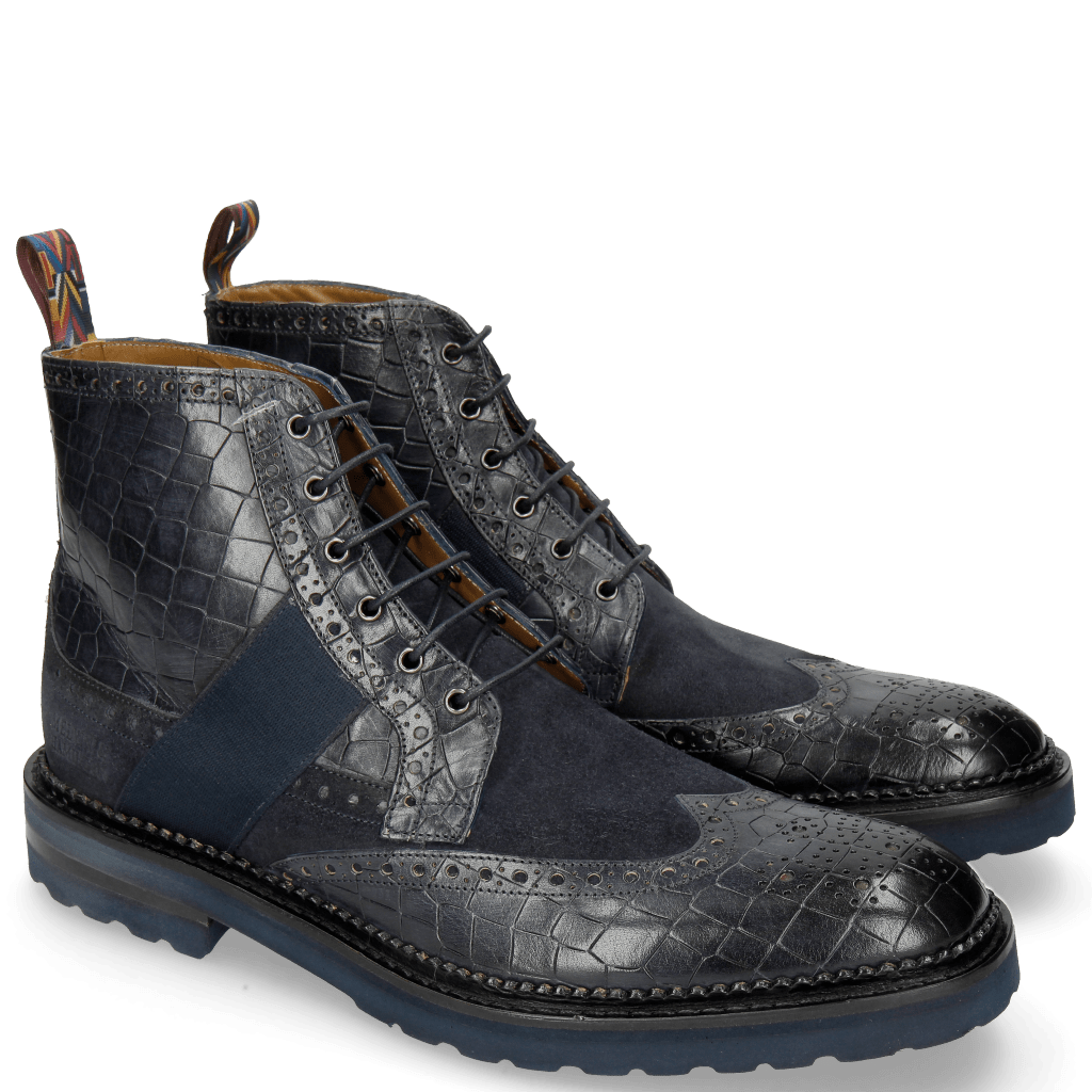 Ankle boots Eddy 26R Crock Suede Pattini Navy