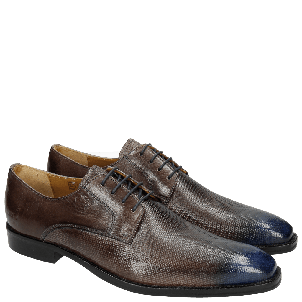 Derby shoes Martin 1 Venice Dice Stone Toe Electric Blue