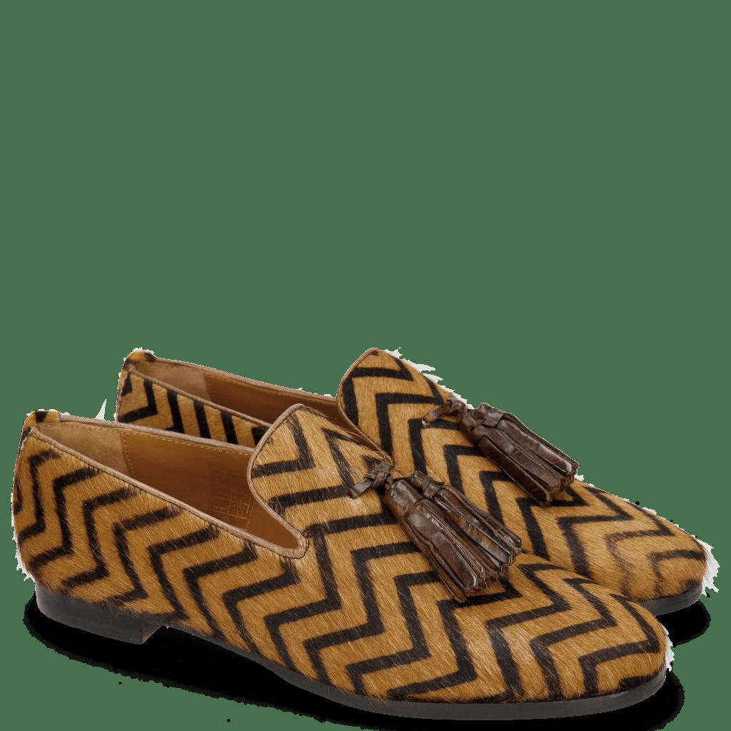 Loafers Scarlett 20 Hairon Driveway Tassel Mid Brown