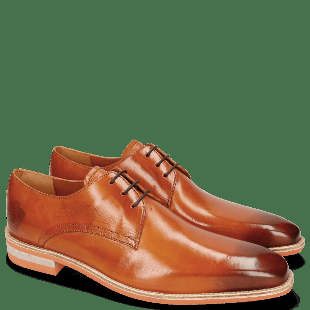 Derby shoes Lance 24 E-Orange Lasercut Crown