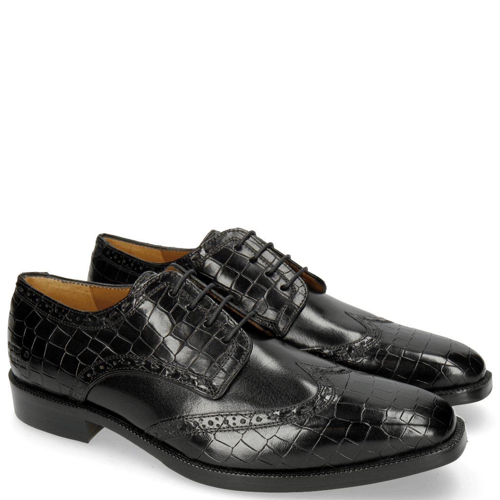 Derby shoes Jeff 1 Crock Black