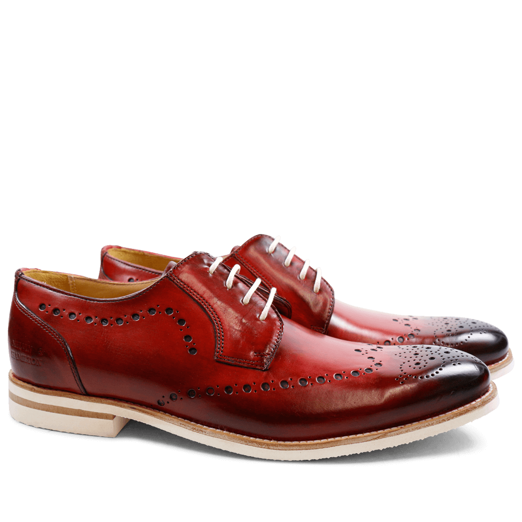 Derby shoes Scott 7 Crust Washed Red Modica White