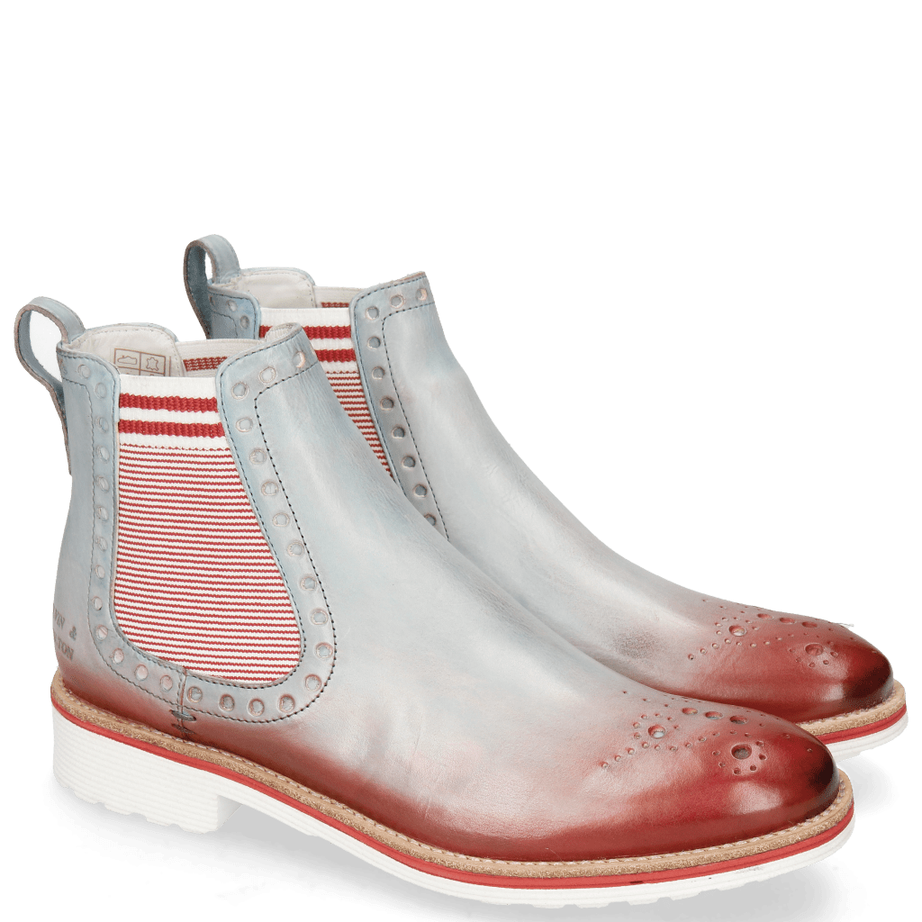 Ankle boots Amelie 8 Vegas Clear Water Shade Ruby