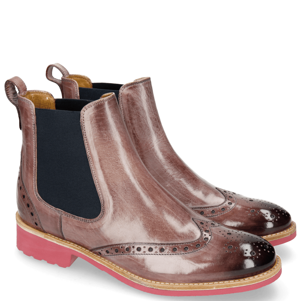 Ankle boots Amelie 5 Blush Elastic Navy