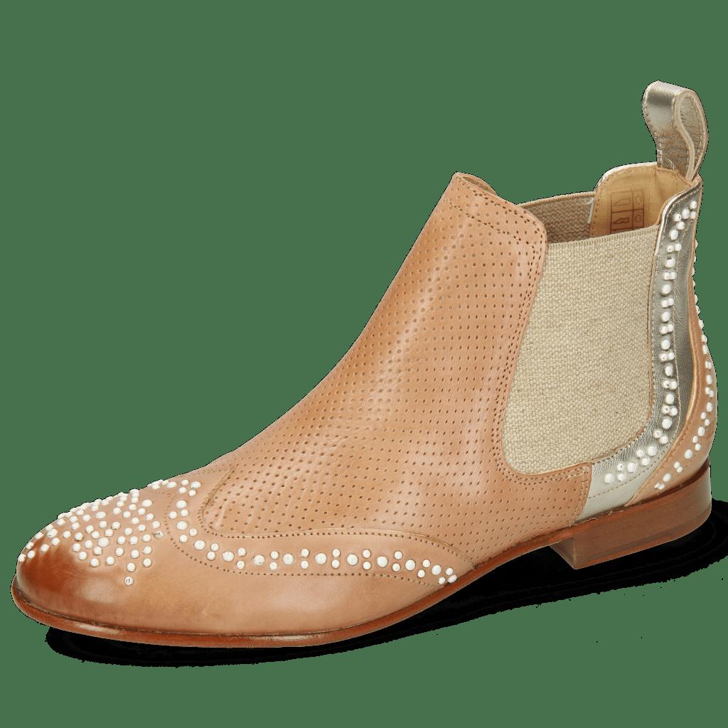 Ankle boots Sally 45 Imola Make Up Perfo Talca Platino