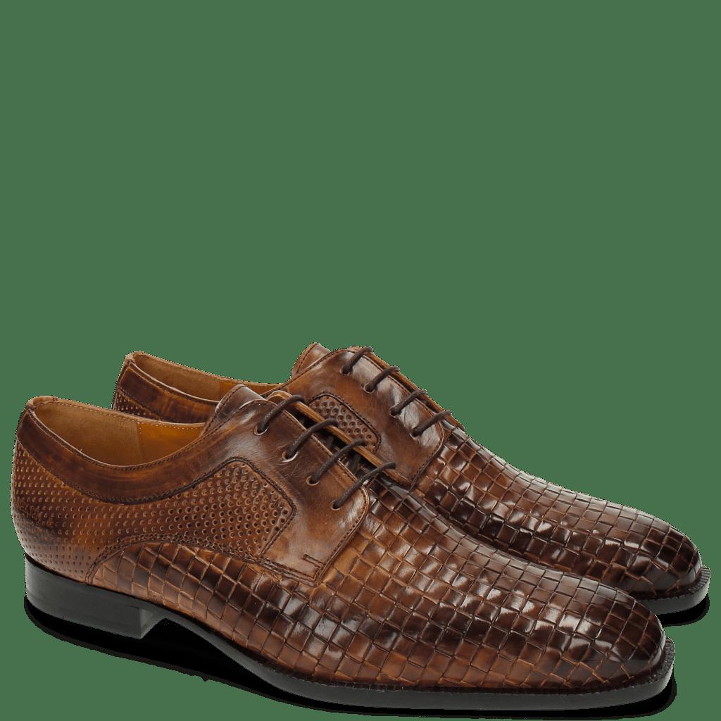 Derby shoes Woody 10 Perfo Mesh Tan LS Brown