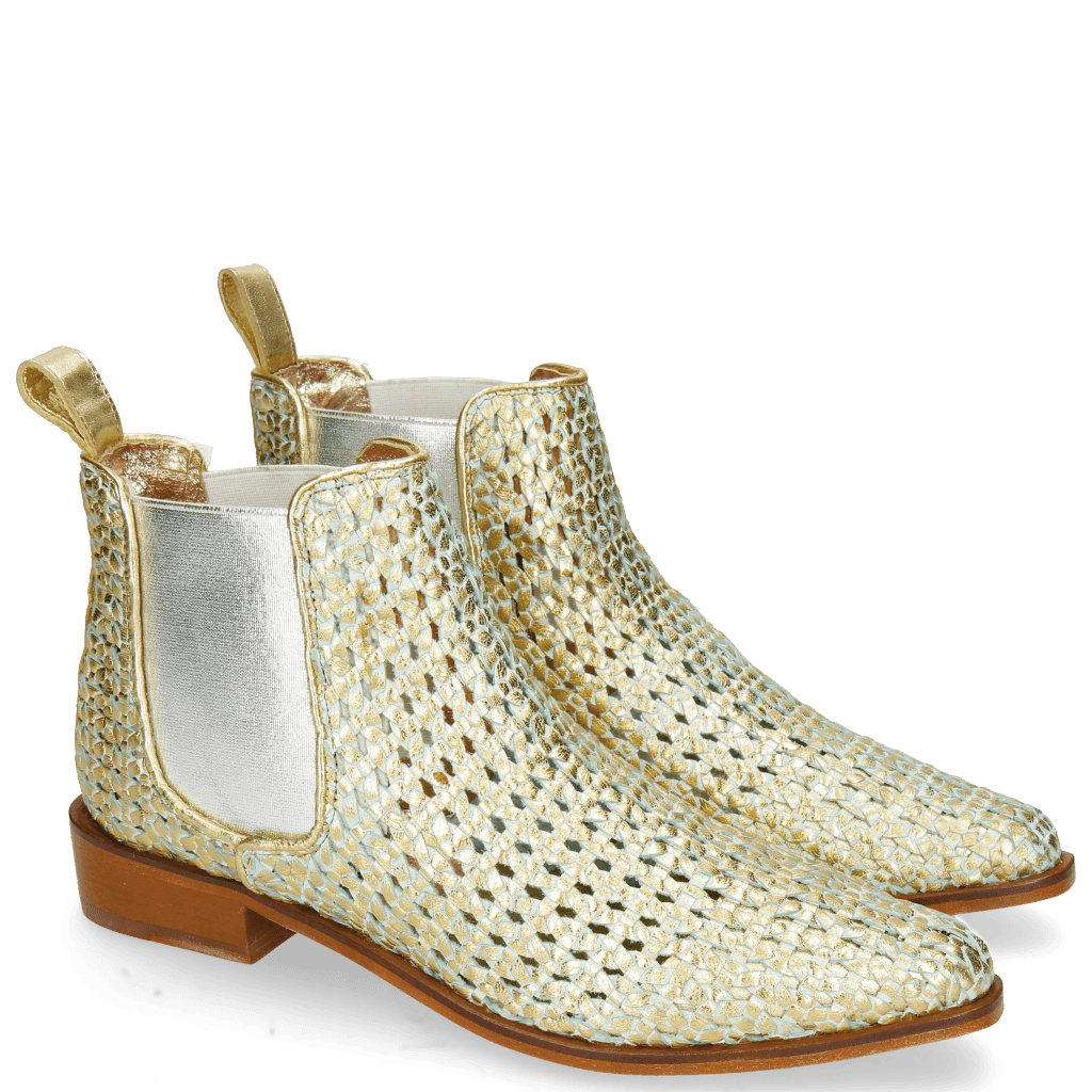 Ankle boots Marlin 4 Woven Crusty Turquoise Gold
