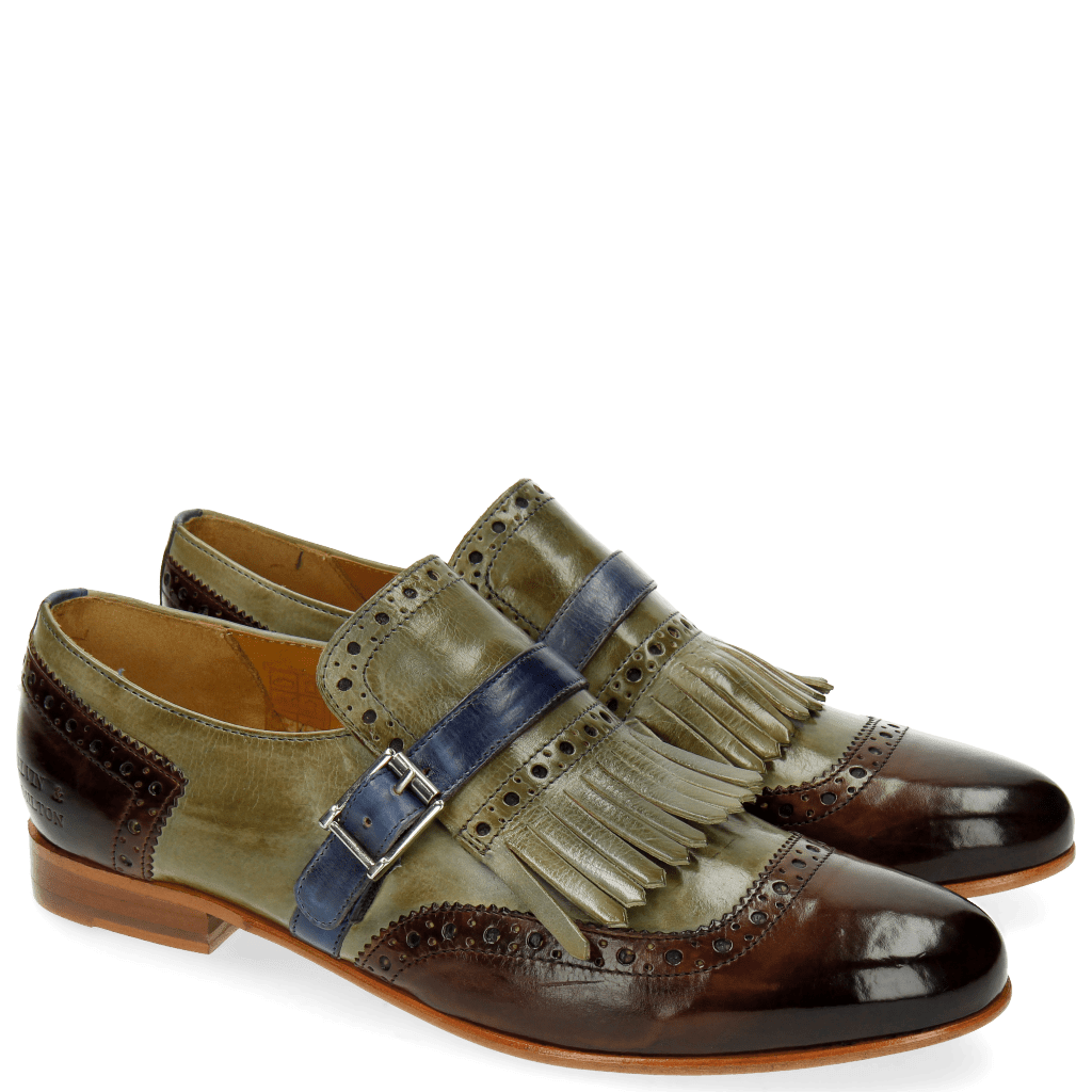 Monks Selina 2 Mid Brown Clear Water Moroccan Blue