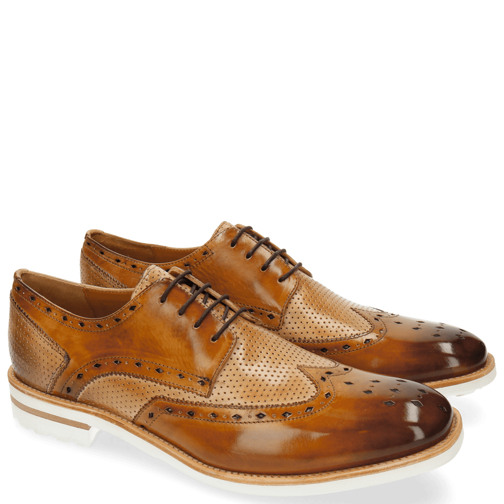 Derby shoes Eddy 5 Perfo Sand Nude Aspen White