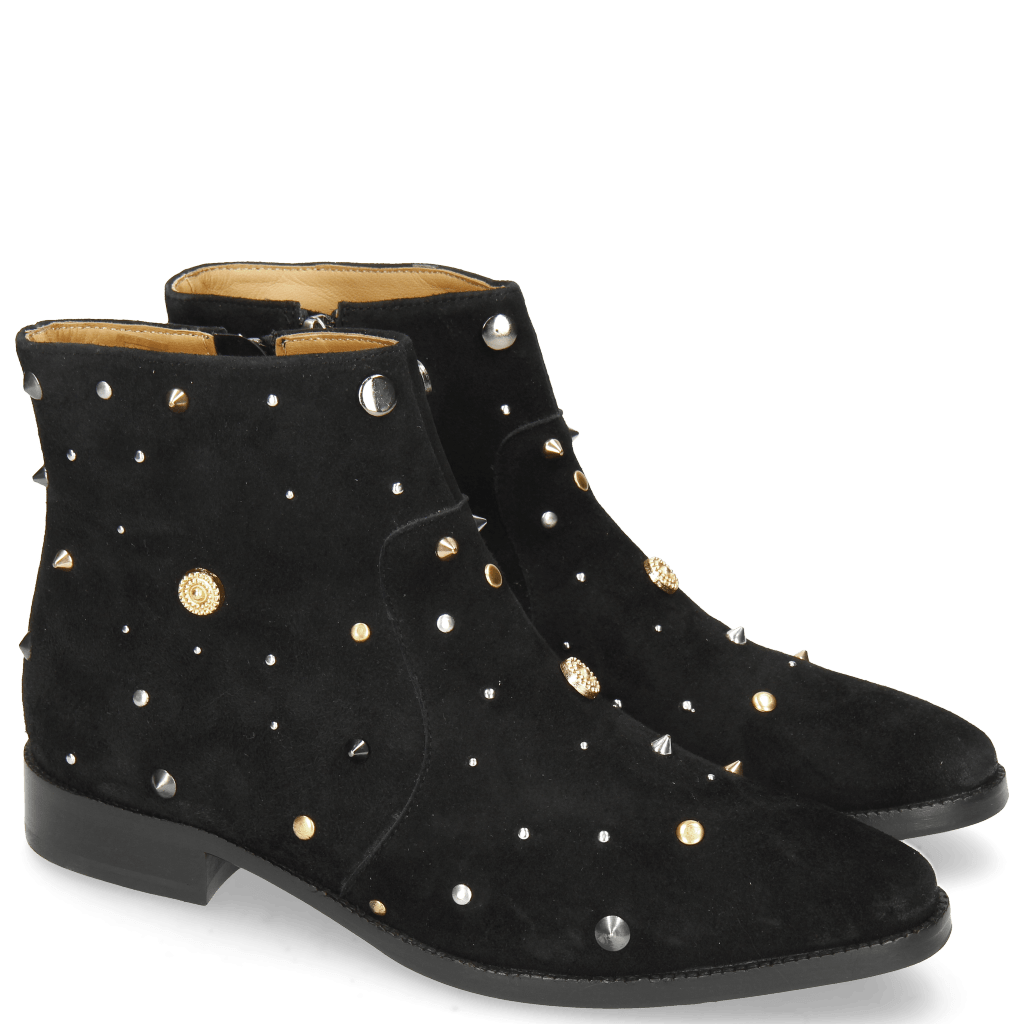 Ankle boots Candy 7 Oily Suede Black Rivets